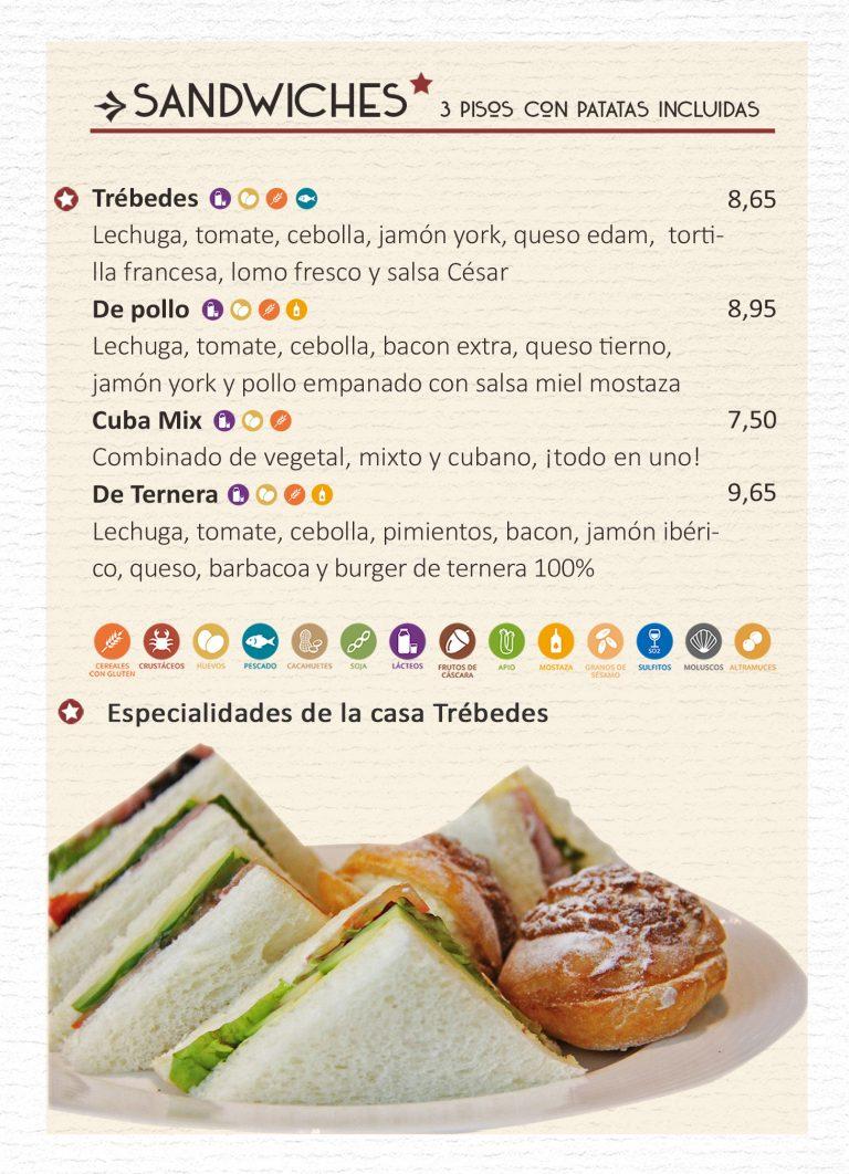 Sandwiches Trébedes